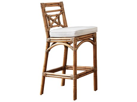 Panama Jack Sunroom Plantation Bay Wicker Cushion Bar Stool