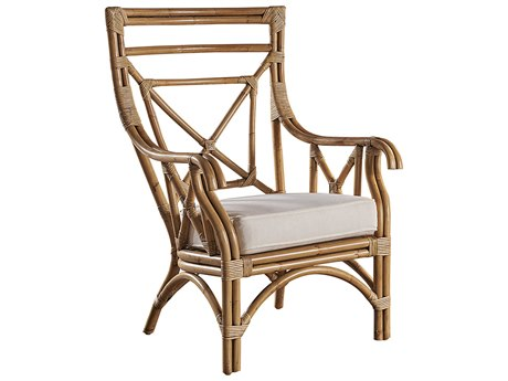 Panama Jack Sunroom Plantation Bay Wicker Cushion Lounge Chair
