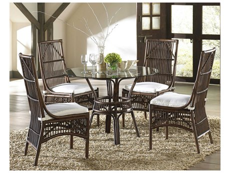 Panama Jack Sunroom Bora Wicker Dining Set