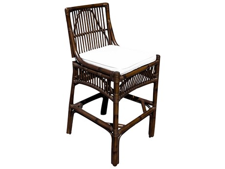 Panama Jack Sunroom Bora Wicker Cushion Bar Stool