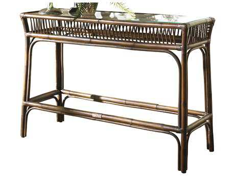 Panama Jack Bora Bora Wicker 47 x 32 Rectangular Console Table