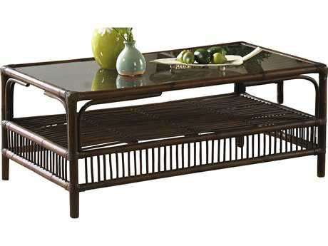 Panama Jack Bora Bora Wicker 43 x 18 Rectangular Coffee Table