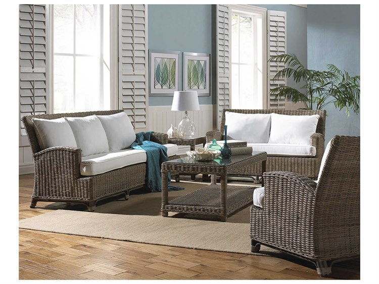 Panama Jack Sunroom Exuma Wicker Cushion Lounge Set PatioLiving
