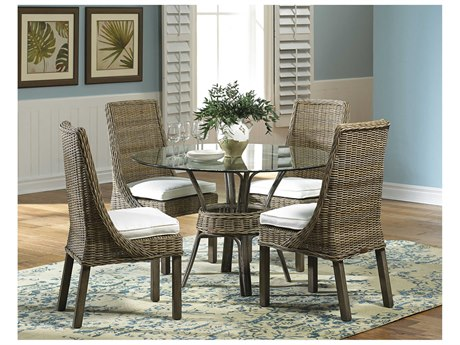 Panama Jack Sunroom Exuma Wicker Dining Set