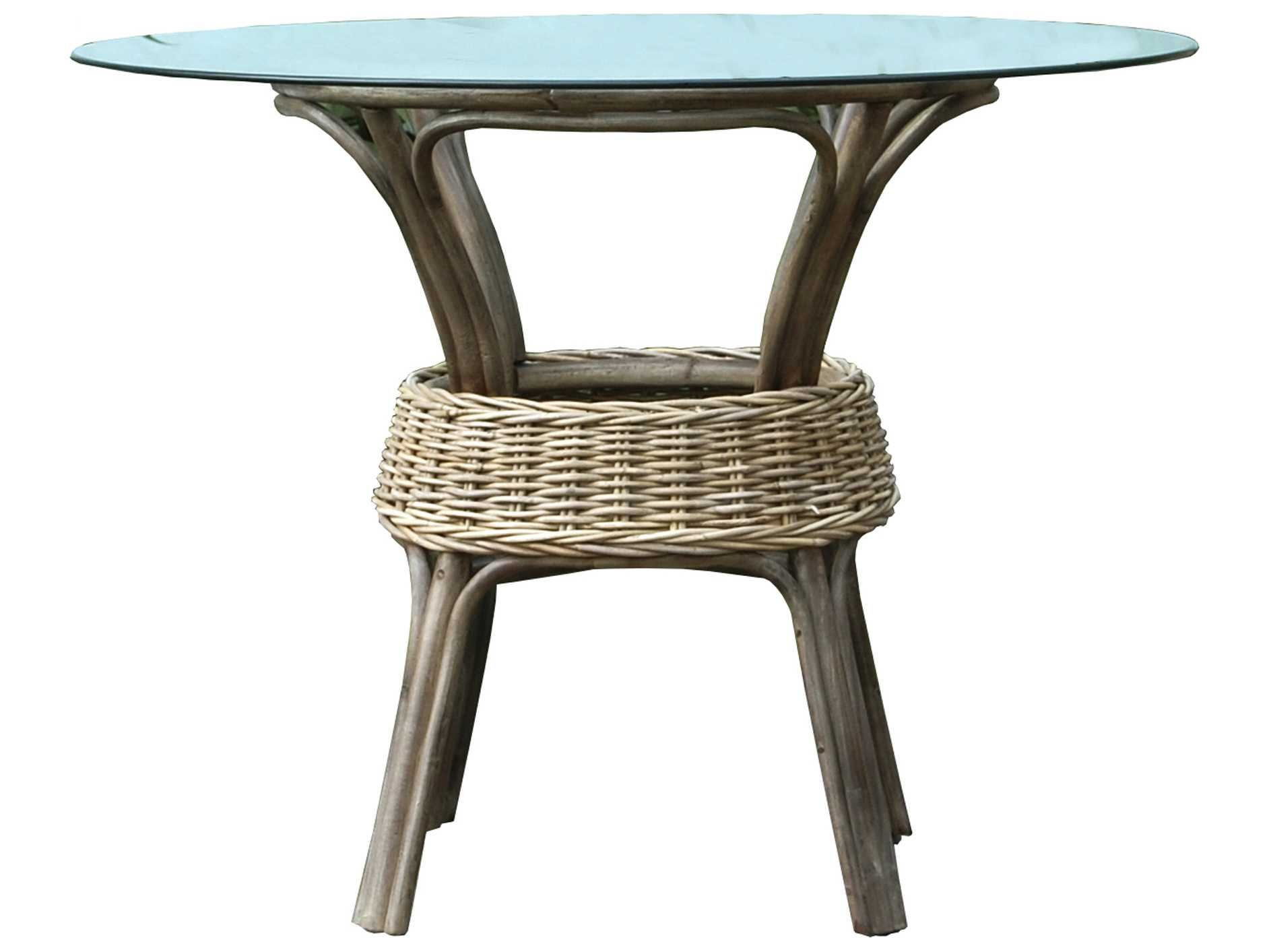 Panama Jack Exuma 48 Round Wicker Dining Table PJPJS3001KBUB