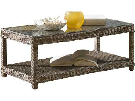 Panama Jack Exuma Wicker 47 x 24 Rectangular Coffee Table
