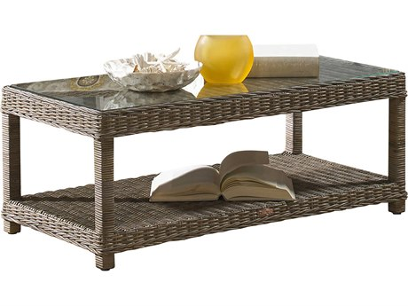 Panama Jack Exuma Wicker 47 x 24 Rectangular Coffee Table PatioLiving