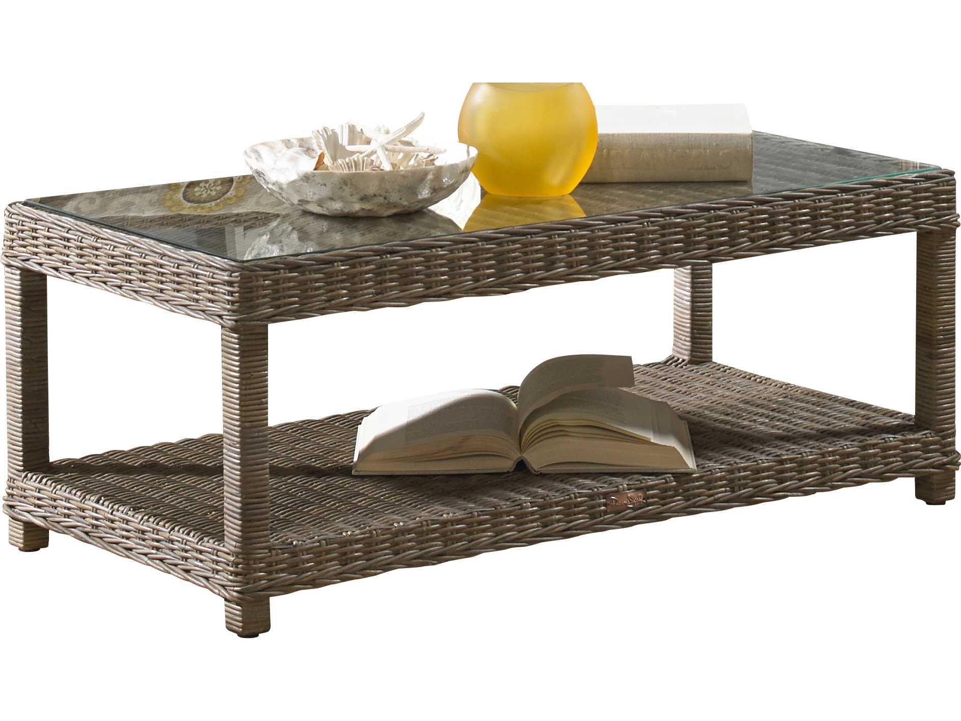 Panama Jack Exuma Wicker 47 X 24 Rectangular Coffee Table Pjpjs3001kbuct