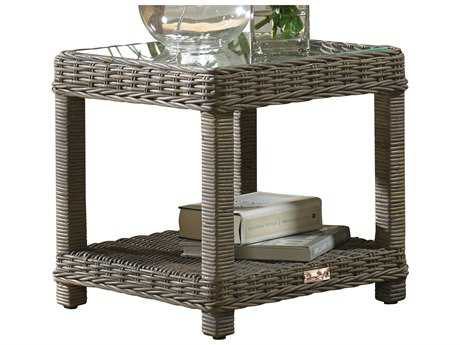 Panama Jack Exuma Wicker 20 Square End Table PJPJS3001KBUET