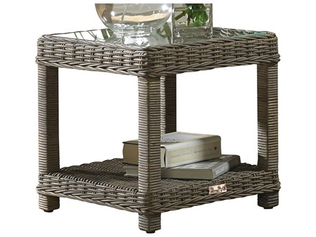 Panama Jack Exuma Wicker 20 Square End Table PatioLiving
