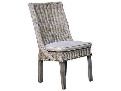Panama Jack Exuma Wicker Dining Side Chair PJPJS3001KBUSC