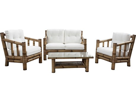 Panama Jack Sunroom Kauai Wicker Cushion Lounge Set