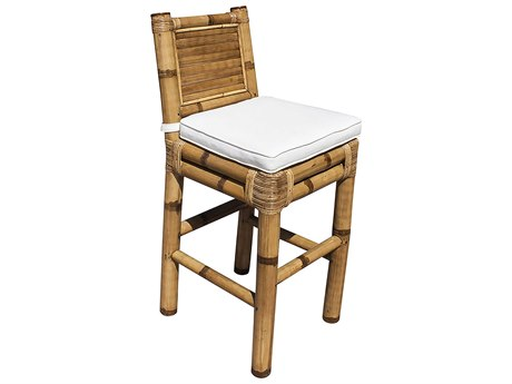 Panama Jack Sunroom Kauai Wicker Cushion Bar Stool