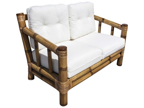 Panama Jack Sunroom Kauai Wicker Cushion Loveseat
