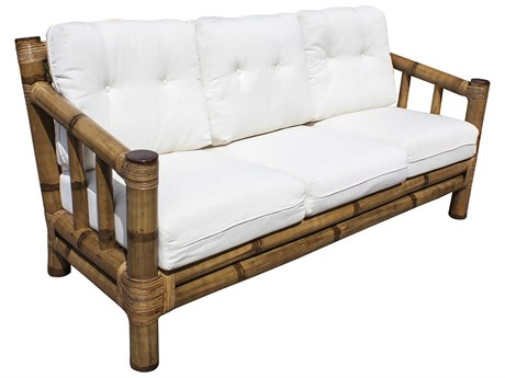 Panama Jack Sunroom Kauai Wicker Cushion Sofa