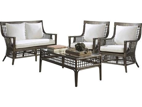 Panama Jack Sunroom Millbrook Wicker Cushion Lounge Set
