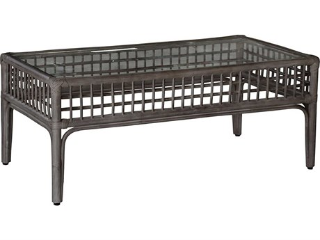 Panama Jack Millbrook 43'' Wide Wicker Rectangular Coffee Table