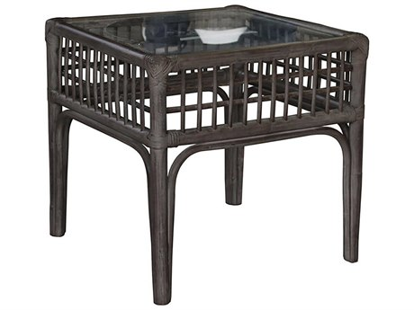 "Panama Jack Millbrook 20"" Wide Wicker Square End Table"
