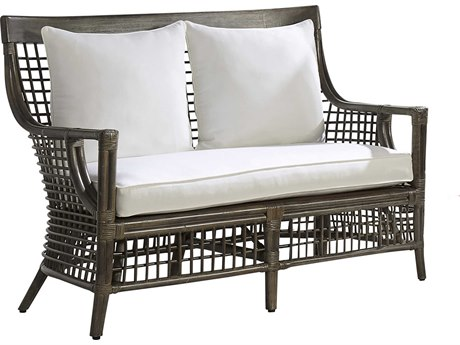 Panama Jack Sunroom Millbrook Wicker Cushion Loveseat