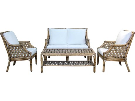 Panama Jack Sunroom Old Havana Wicker Cushion Lounge Set