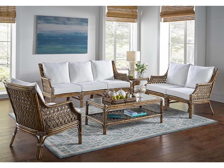 Panama Jack Sunroom Old Havana Wicker Cushion Lounge Set