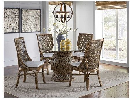 Panama Jack Sunroom Old Havana Wicker Dining Set
