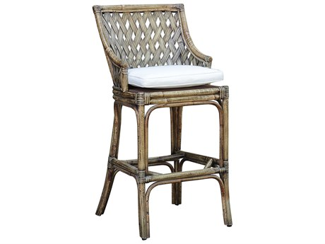 Panama Jack Sunroom Old Havana Wicker Cushion Bar Stool
