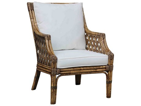 Panama Jack Sunroom Old Havana Wicker Cushion Lounge Chair