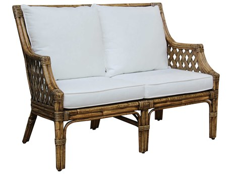 Panama Jack Sunroom Old Havana Wicker Cushion Loveseat
