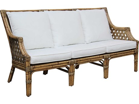Panama Jack Sunroom Old Havana Wicker Cushion Sofa