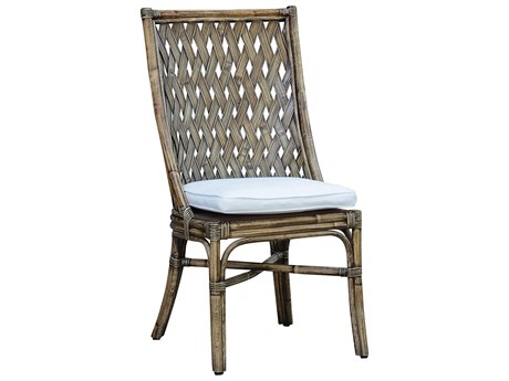 Panama Jack Sunroom Old Havana Wicker Cushion Dining Chair