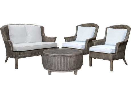 Panama Jack Sunroom Playa Largo Wicker Cushion Lounge Set