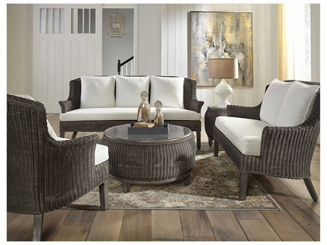 Panama Jack Sunroom Playa Largo Wicker Cushion Lounge Set