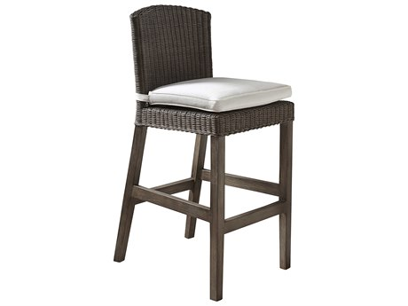 Panama Jack Sunroom Playa Largo Wicker Cushion Bar Stool