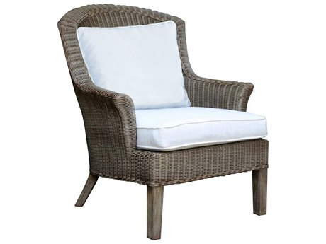 Panama Jack Sunroom Playa Largo Wicker Cushion Lounge Chair