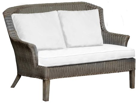 Panama Jack Sunroom Playa Largo Wicker Cushion Loveseat