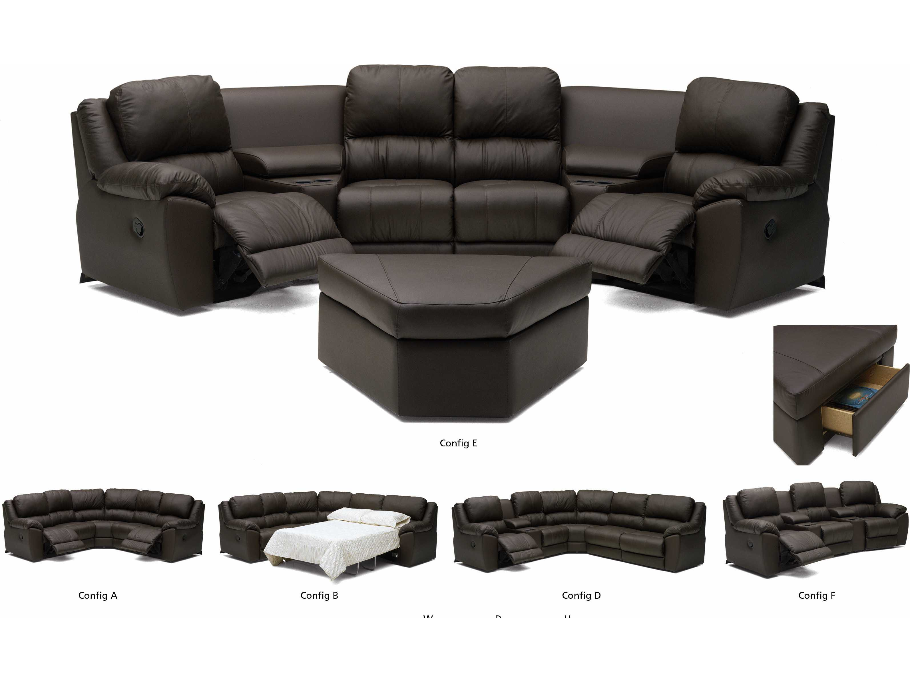 100 [ Home Theater Sectional Sofa ]