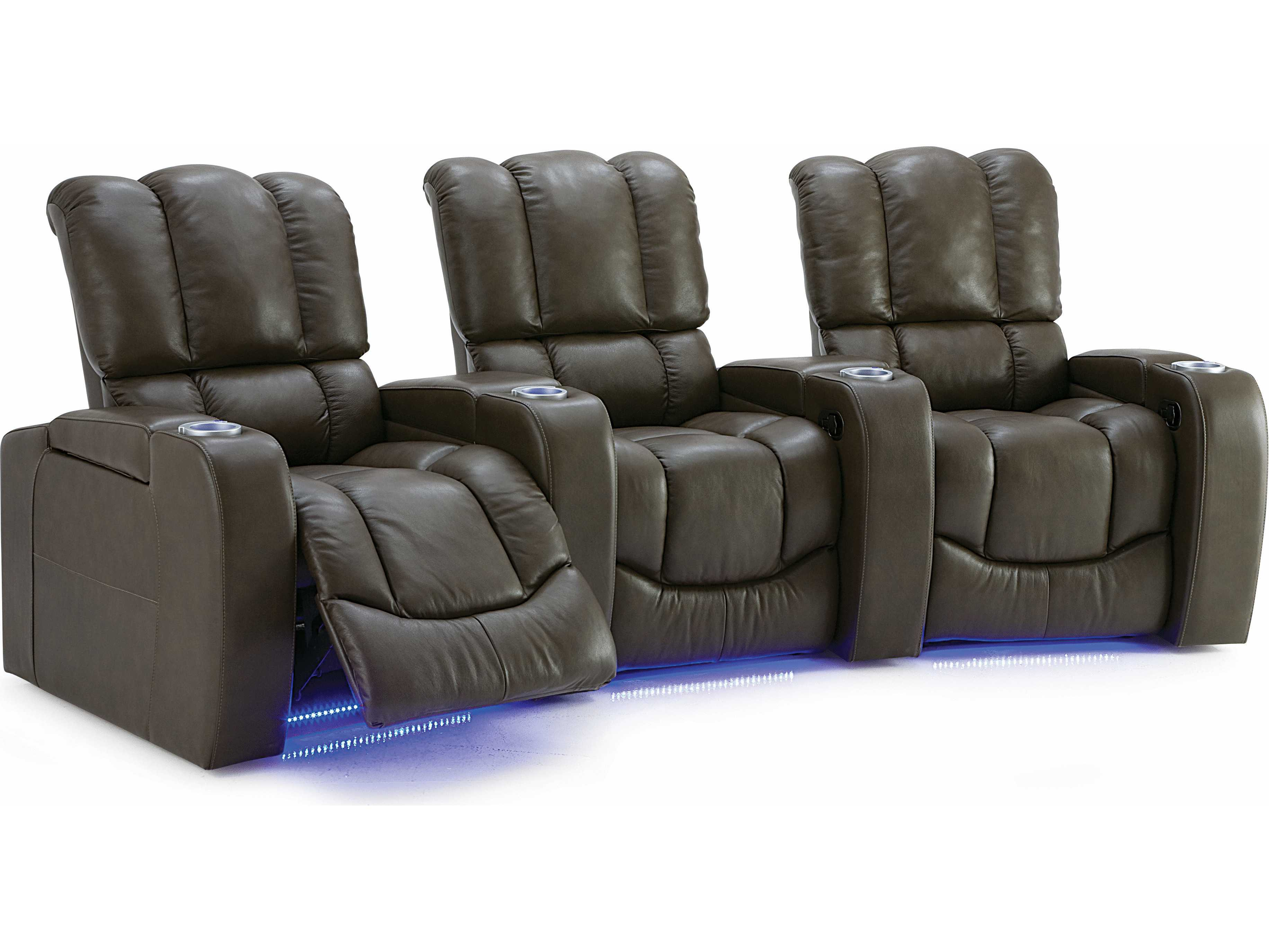 Palliser Channel Hts Manual Reclining Home Theater Sectional 4 Seats Straight With Loveseat