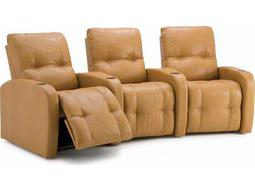 Auxiliary HTS Powered Reclining Home Theater Sectional (3 Seats Straight Configuration)