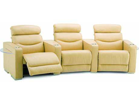 Palliser Digital HTS Powered Reclining Home Theater Sectional (4 Seats Straight with Loveseat Configuration)