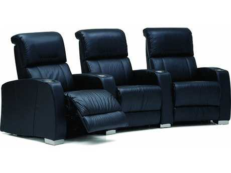 Palliser Hifi HTS Powered Reclining Home Theater Sectional (4 Seats Curved with Loveseat Configuration)