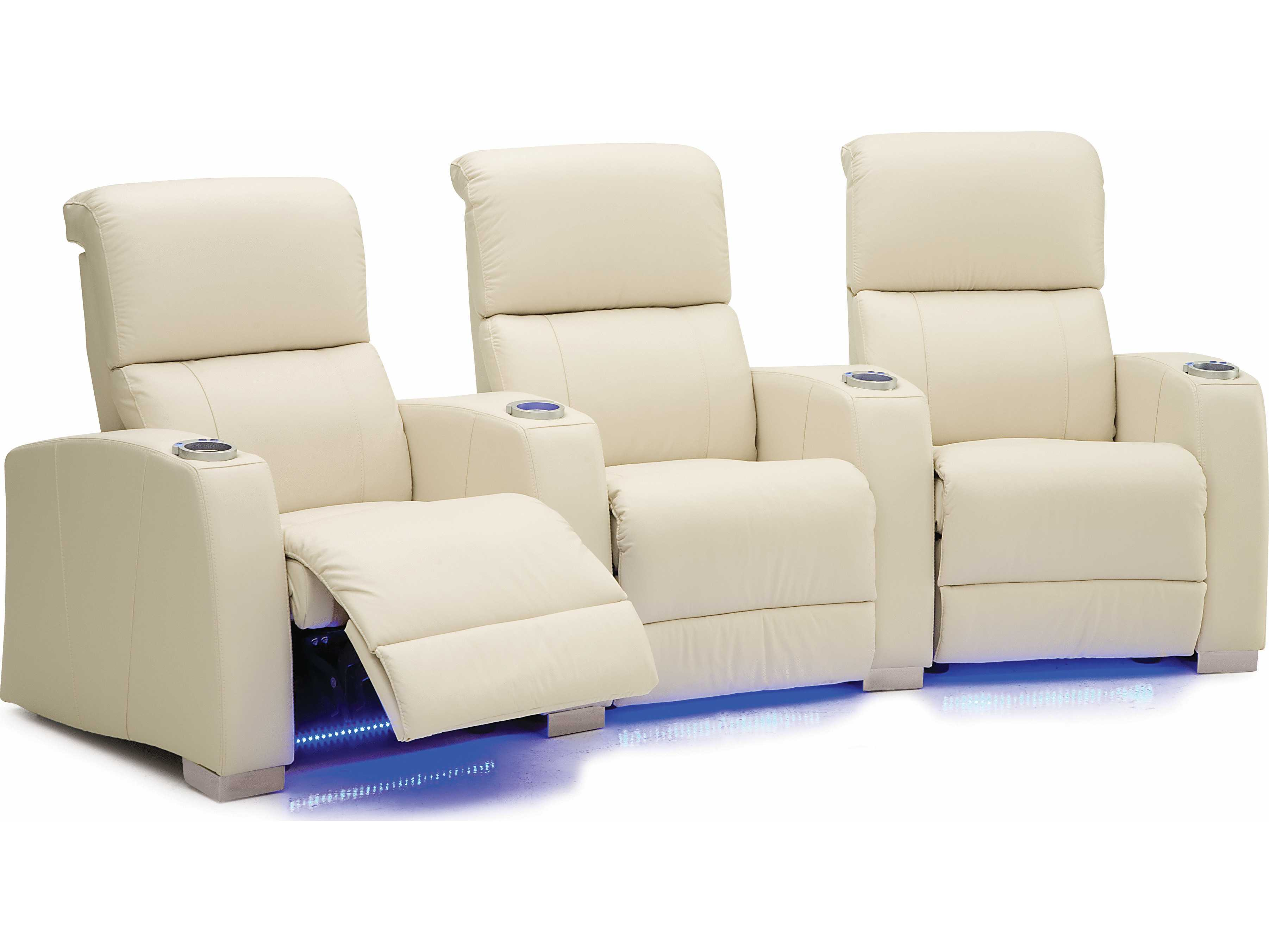 Palliser Hifi Hts Manual Reclining Home Theater Sectional 4 Seats Straight With Loveseat