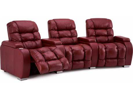 Palliser Linus HTS Powered Reclining Home Theater Sectional (4 Seats Curved with Loveseat Configuration)