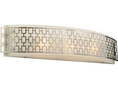 PLC Lighting Ethen Polished Chrome Three-Light Incandescent Wall Sconce