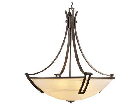 PLC Lighting Highland Oil Rubbed Bronze 30'' Wide Six-Light Fluorescent-GU24 Pendant