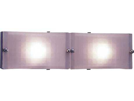 PLC Lighting Gem Polished Chrome Two-Light Fluorescent-PL9 Wall Sconce