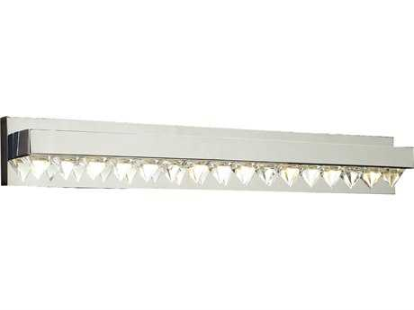 PLC Lighting Crysto Polished Chrome Eight-Light Vanity Light