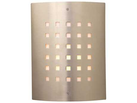 PLC Lighting Figaro Satin Nickel Fluorescent-GU24 Outdoor Wall Light (Sold in 2)