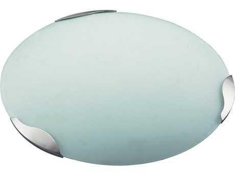 PLC Lighting Concord Satin Nickel 16.5'' Wide Two-Light Fluorescent-GU24 Flush Mount Light (Sold in 2)