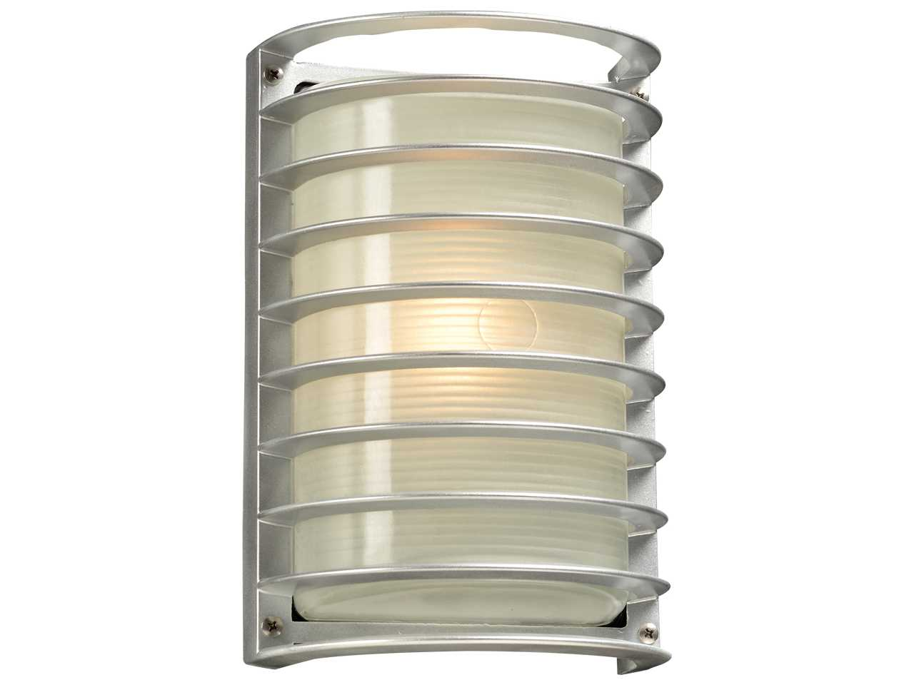 Plc Lighting Sunset Silver Fluorescent Gu24 Outdoor Wall Light Sold In 2 Plc2038sl113gu24